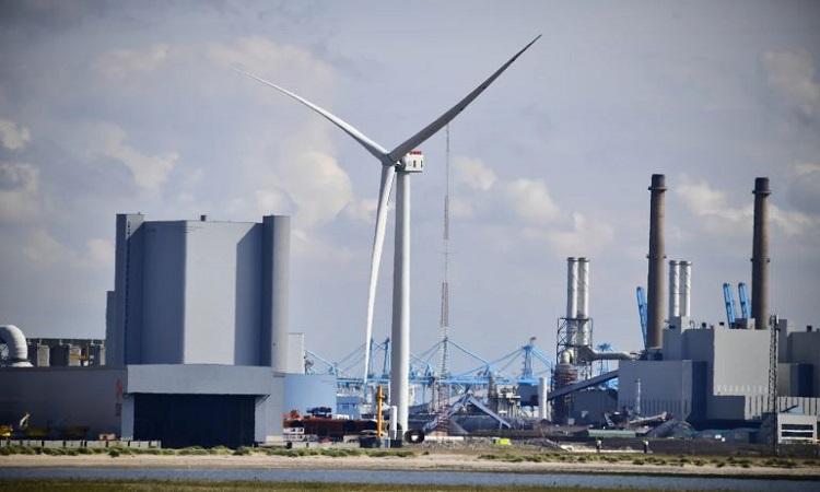 Turbine gió Haliade-X đang hoạt động với công suất 14 MW. Ảnh: GE Renewable Energy