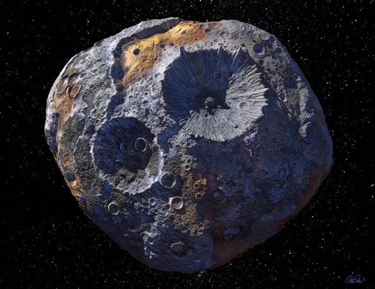 Minh họa tiểu hành tinh 16 Psyche. Ảnh: Maxar/ASU/P.Rubin/NASA/JPL-Caltech