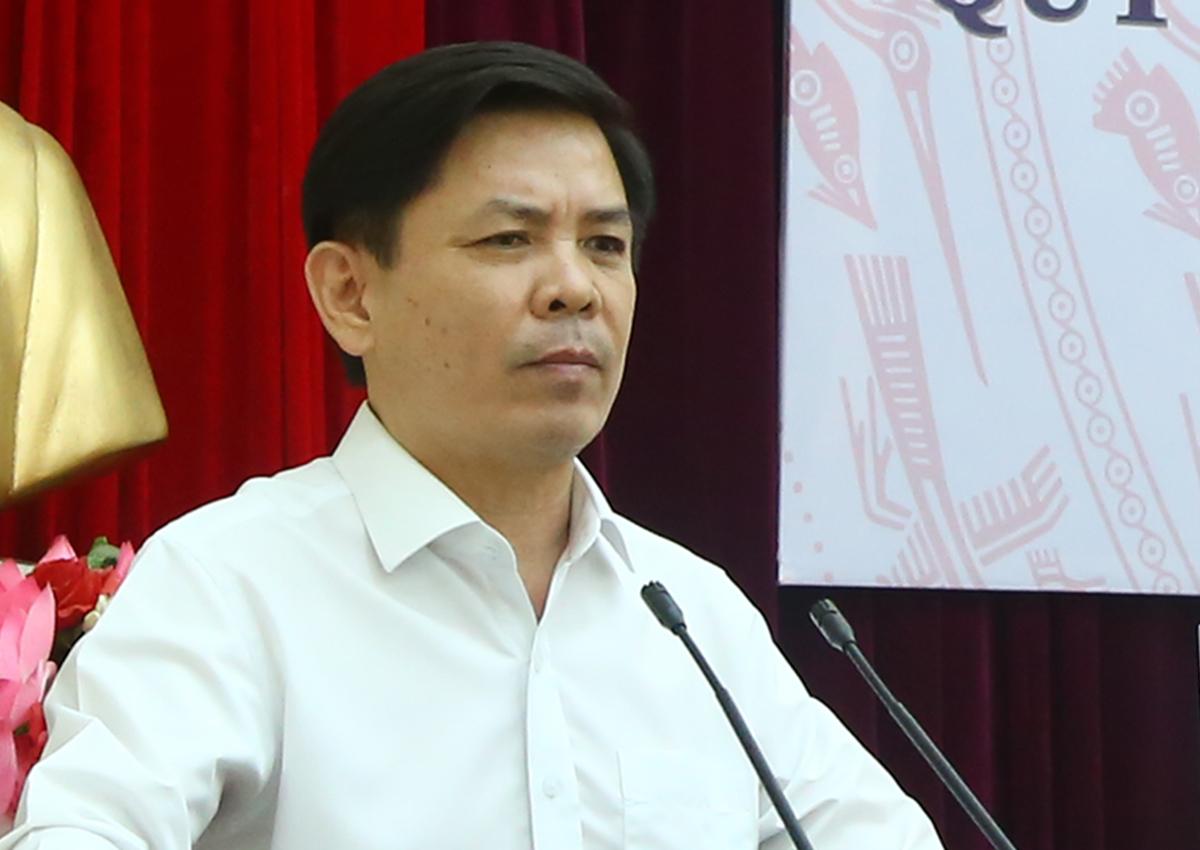 Bộ trưởng Giao thông Vận tải Nguyễn Văn Thể tại hội nghị công bố quy hoạch. Ảnh: Anh Duy