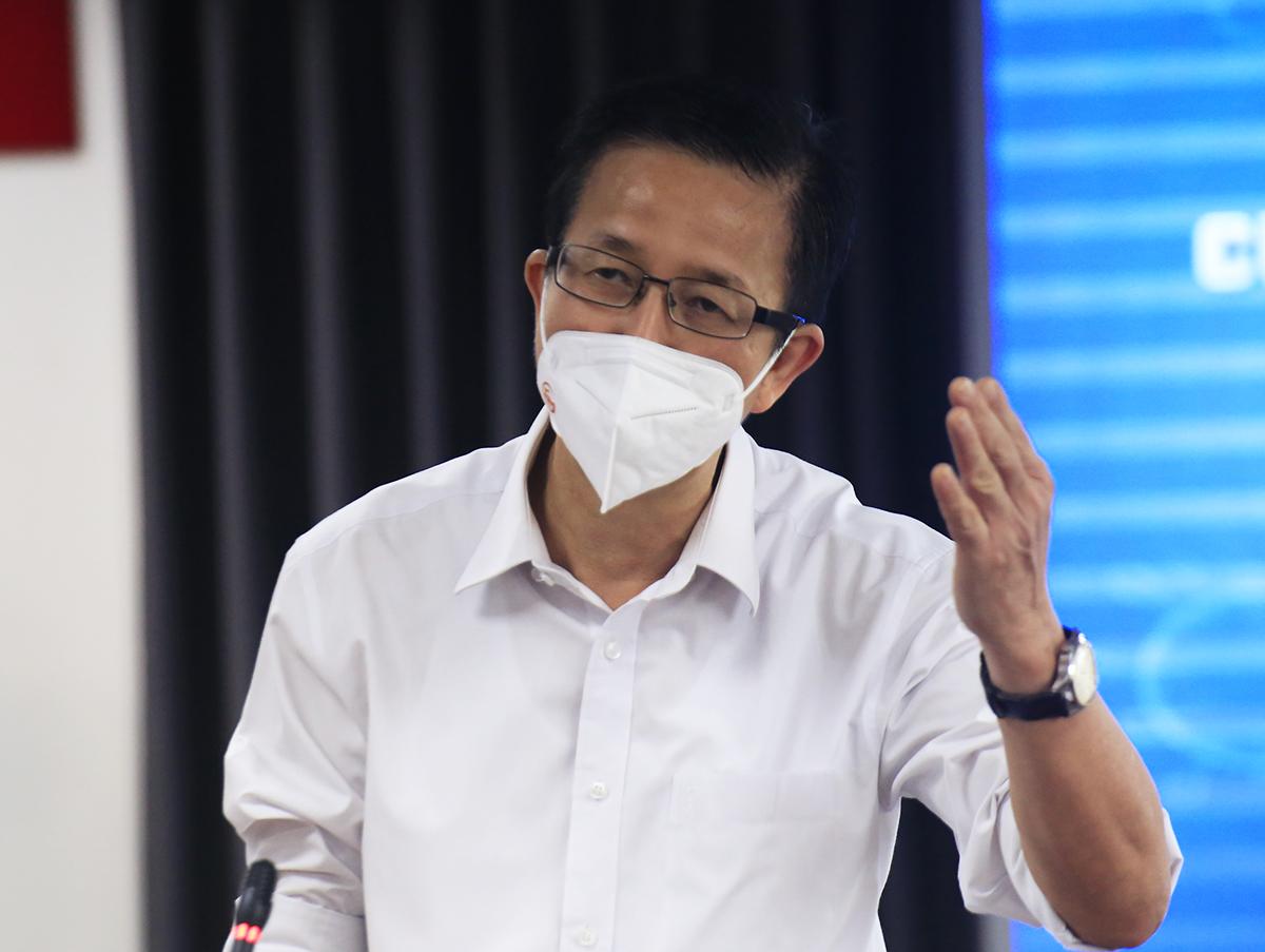 Ông Phạm Đức Hải, Phó ban chỉ đạo phòng chống Covid-19 TP HCM. Ảnh: Hữu Công