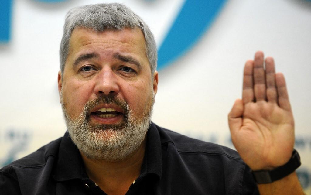 Dmitry Muratov, tổng biên tập tờ Novaya Gazeta của Nga, phát biểu trong một cuộc họp báo ở Moskva hồi tháng 12/2012. Ảnh: AFP.