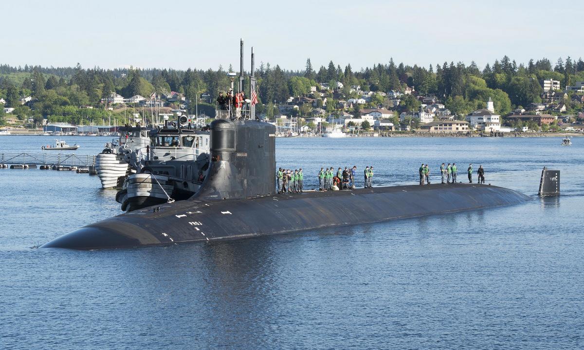 USS Connecticut về cảng sau một cuộc diễn tập năm 2018. Ảnh: US Navy.