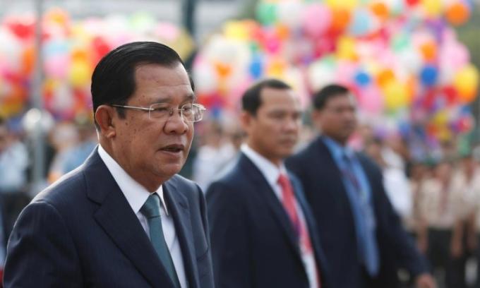 Thủ tướng Campuchia Hun Sen tại Phnom Penh hồi tháng 11/2019. Ảnh: Reuters.