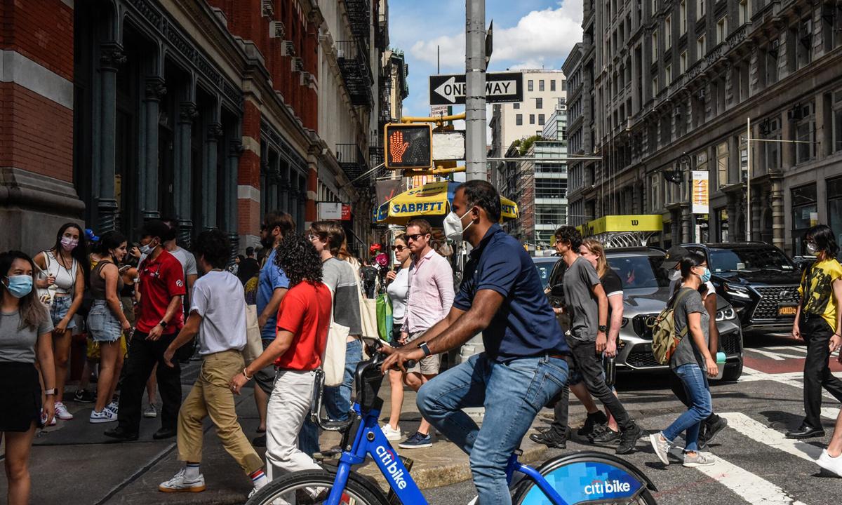 Một khu phố ở Manhattan, thành phố New York, Mỹ tháng trước. Ảnh: NY Times.