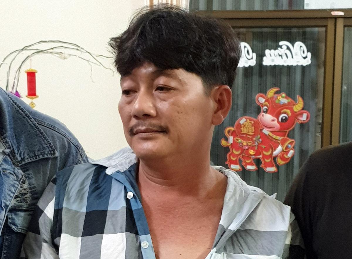 Trần Công Xuân khi bị bắt vào cuối tháng 3. Ảnh: Công an cung cấp