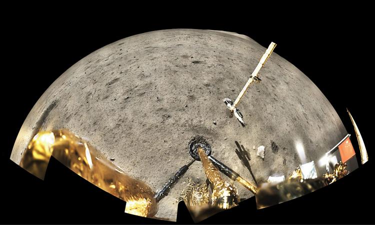 Địa điểm hạ cánh của tàu Hằng Nga 5 trên Mặt Trăng. Ảnh: CNSA