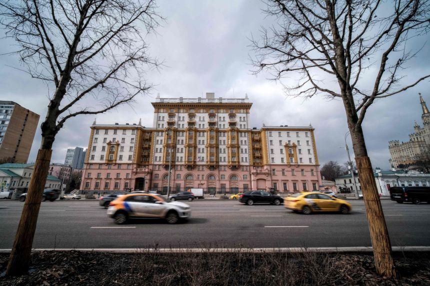 Đại sứ quán Mỹ tại Moskva, Nga. Ảnh: AFP