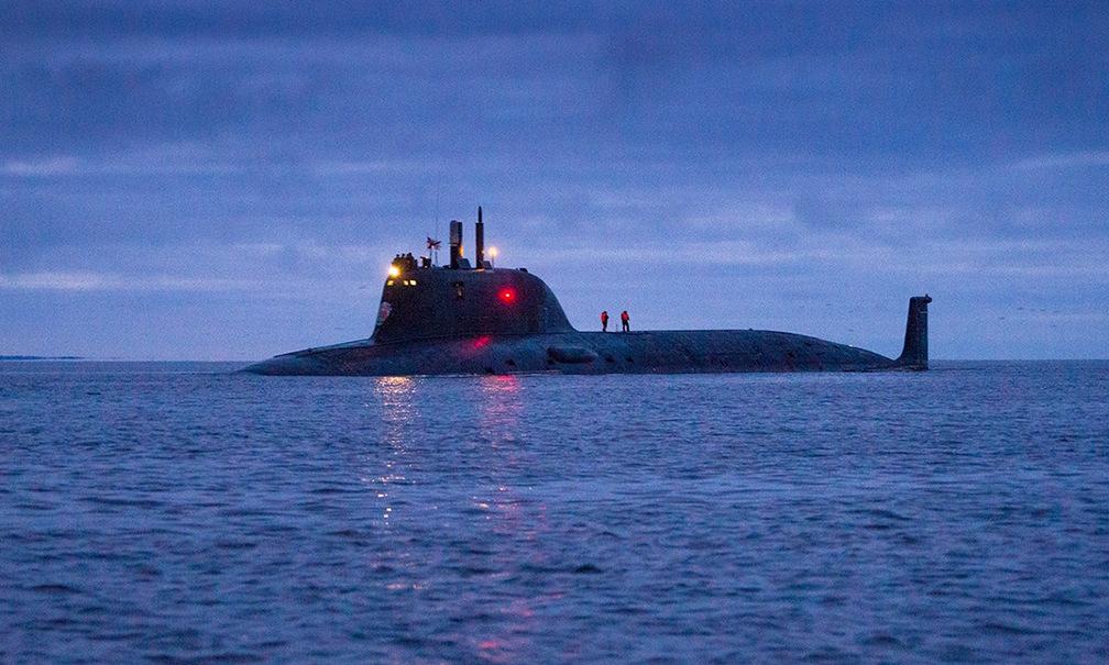 Tàu ngầm Kazan thuộc Hạm đội Phương Bắc chạy thử cuối năm 2019. Ảnh: Bộ Quốc phòng Nga.