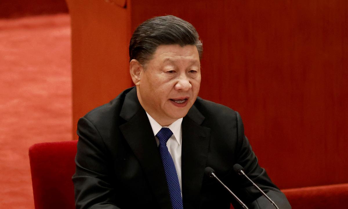 Ông Tập phát biểu tại Đại lễ đường Nhân dân hôm 9/10. Ảnh: Reuters.