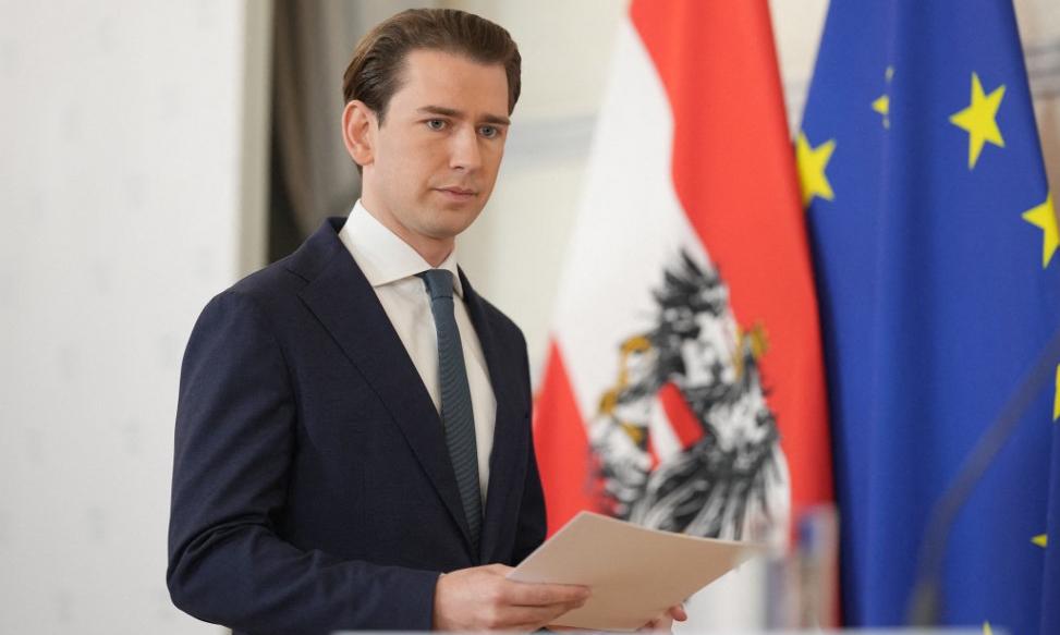 Thủ tướng Áo Sebastian Kurz tại văn phòng thủ tướng ở thủ đô Vienna hôm 9/10. Ảnh: AFP.