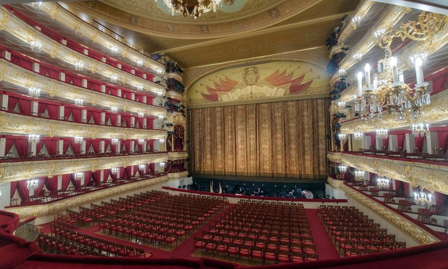 Khán phòng chính bên trong Nhà hát Bolshoi ở Moskva, Nga. Ảnh: Sputnik.