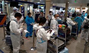 Niềm vui của hành khách ngày đường bay mở lại