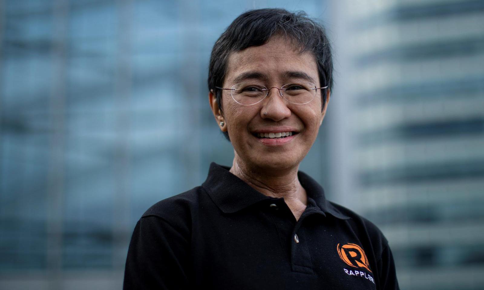 Nhà báo Maria Ressa, một trong hai chủ nhân giải Nobel Hòa bình 2021, tại thành phố Taguig thuộc vùng đô thị Manila, Philippines, hôm 9/10. Ảnh: Reuters.