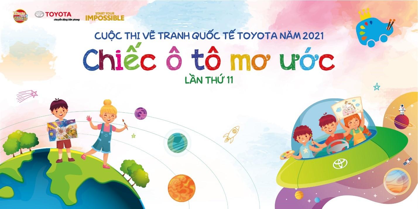 Banner cuộc thi vẽ tranh quốc tế năm nay của Toyota.