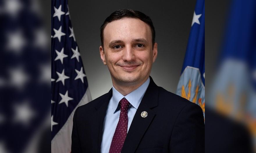 Nicolas Chaillan hồi tháng 9/2019. Ảnh: USAF.