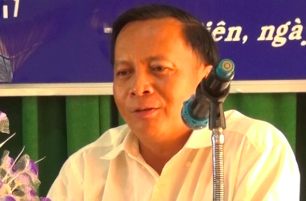 Phó chủ tịch huyện Tịnh Biên Nguyễn Thanh Hùng. Ảnh: Đài truyền thanh huyện