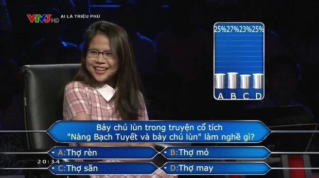 Câu hỏi Ai Là Triệu Phú khiến người chơi hoang mang