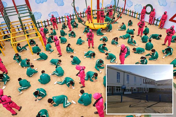 Một trường học ở Bỉ gửi thông báo tới phụ huynh sau khi phát hiện nhiều em đang chơi trò bạo lựa do ảnh hưởng từ bộ phim Squid Game của Hàn Quốc. Ảnh: Netflix/AFP