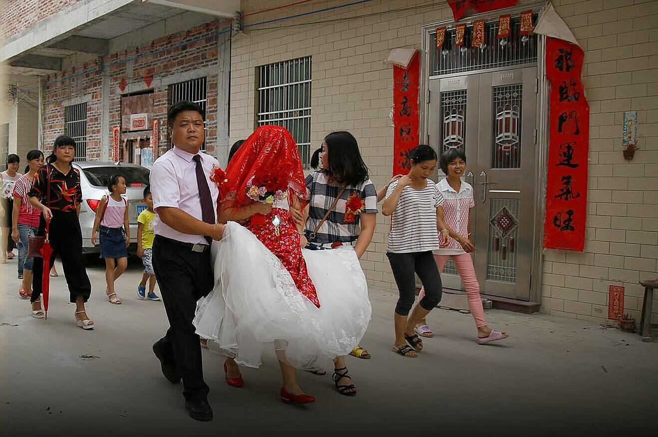 Một đám cưới ở nông thôn Trung Quốc năm 2021. Ảnh: Sixtone