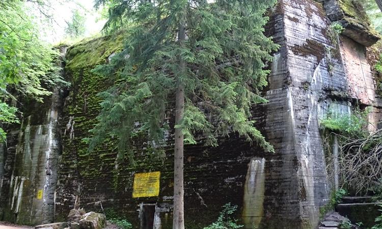 Một hầm trú ẩn bên trong Hang sói của Hitler ở Ba Lan. Ảnh: Wikimedia Commons.