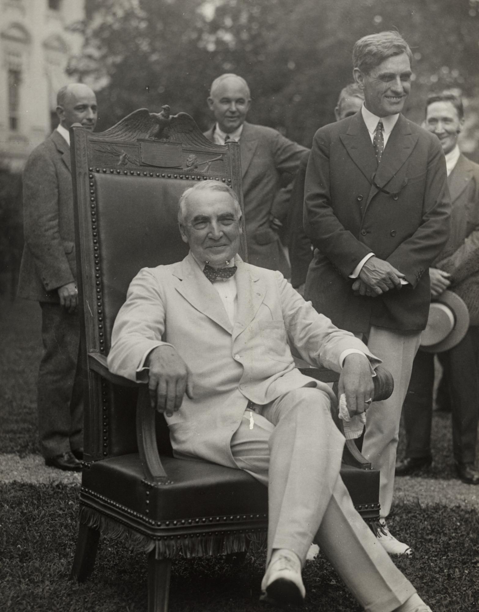 Tổng thống thứ 29 của My, Warren Harding. Ảnh: National Portrait Gallery