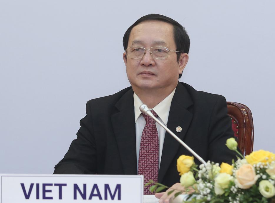 Bộ trưởng Huỳnh Thành Đạt tại lễ ký kết. Ảnh: Ngũ Hiệp