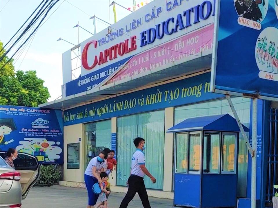 Trường liên cấp Capitole tại xã Tiên Dược, huyện Sóc Sơn, Hà Nội. Ảnh:Capitole Education