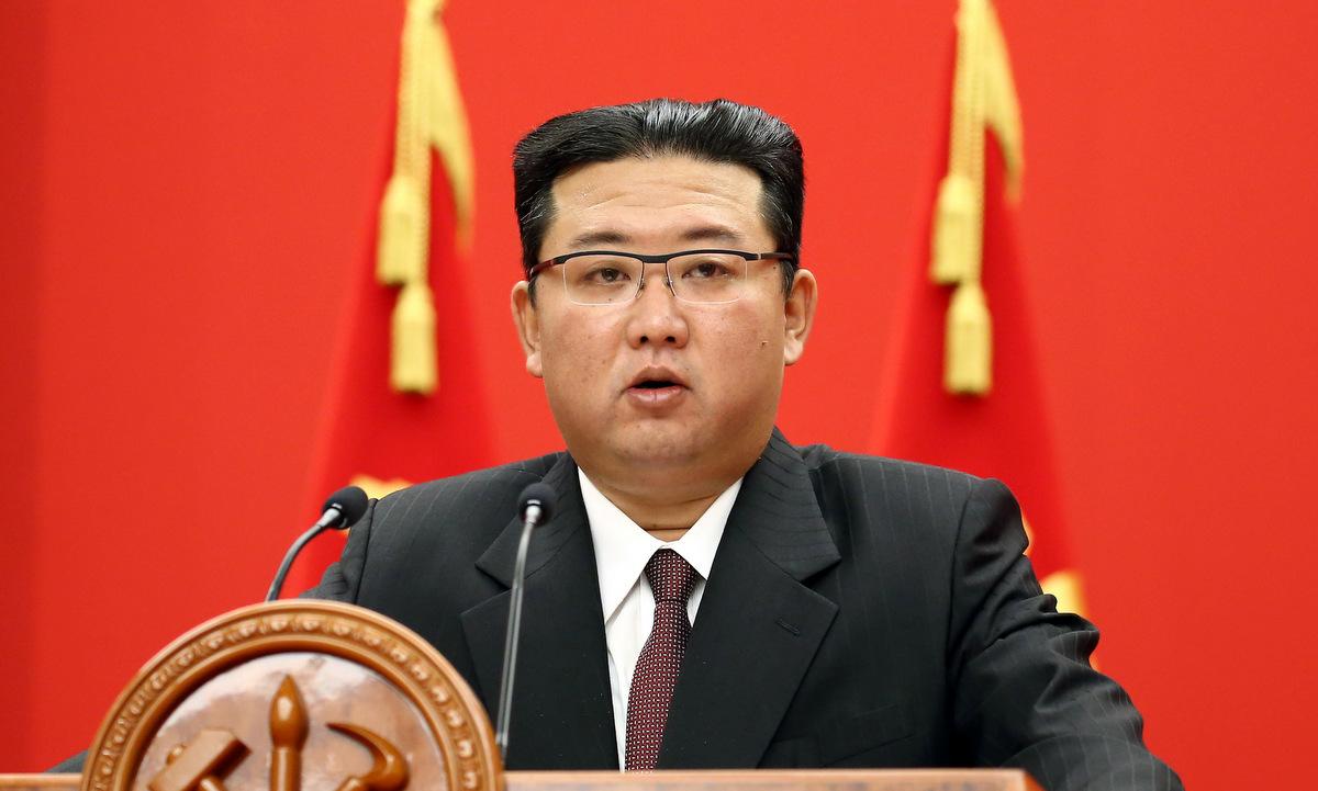 Kim Jong-un phát biểu tại lễ kỷ niệm thành lập đảng Lao động Triều Tiên hôm 11/10. Ảnh: KCNA.