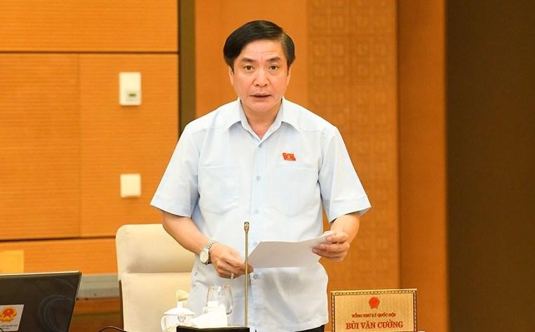 Tổng Thư ký, Chủ nhiệm Văn phòng Quốc hội Bùi Văn Cường. Ảnh: Media QH