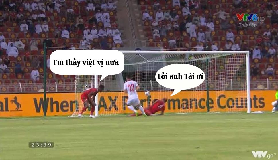 Khi Tiến Linh mở tỉ số cho đội tuyển Việt Nam.