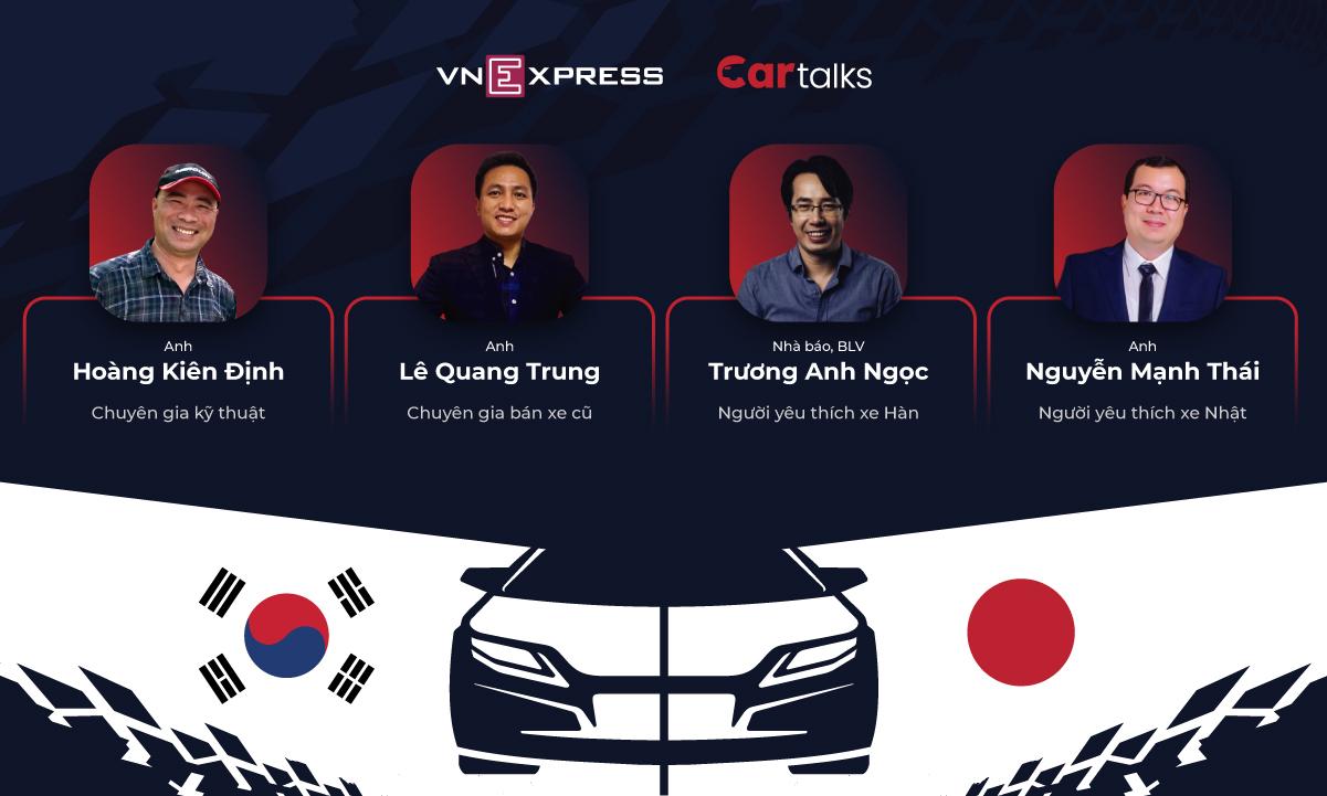 VnExpress tổ chức toạ đàm Xe Hàn hay xe Nhật tốt hơn