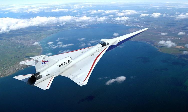 Thiết kế máy bay siêu thanh X-59 của NASA. Ảnh: NASA