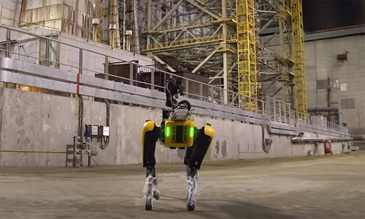 Robot Spot kiểm tra lượng phóng xạ ở nhà máy Chernobyl. Ảnh: Boston Dynamics