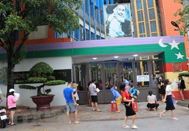 Trường Mầm non Sao Mai - nơi xuất hiện chuỗi lây nhiễm.