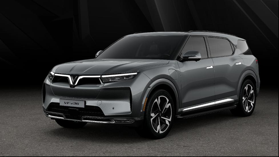 Thiết kế VF e36, mẫu SUV điện lớn nhất hiện nay của VinFast.