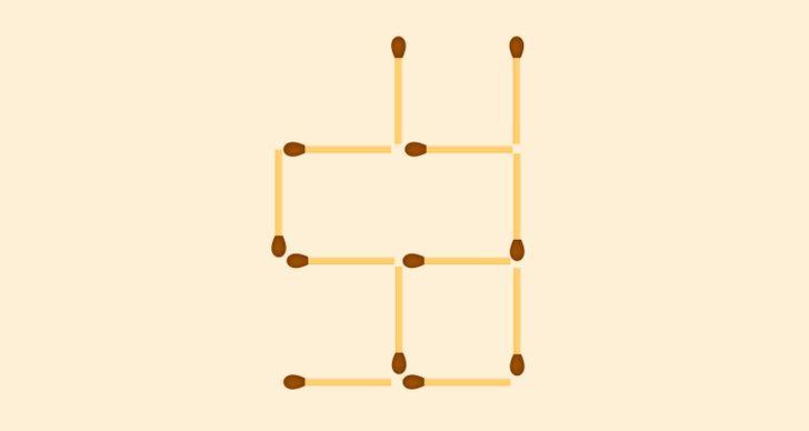Bốn câu đố di chuyển que diêm - 2