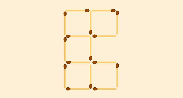 Bốn câu đố di chuyển que diêm - 3