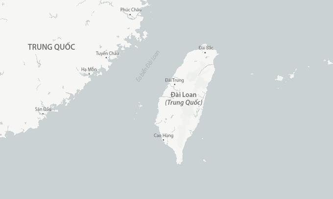 Đảo Đài Loan và eo biển cùng tên. Đồ họa: CSIS.
