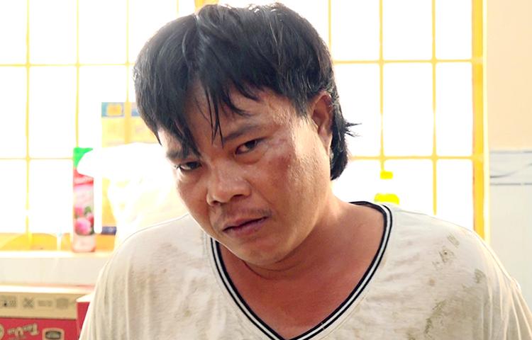 Nguyễn Thanh Cường tại cơ quan công an. Ảnh: An Phú