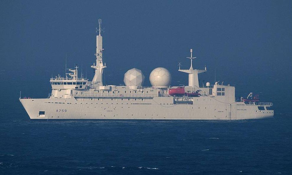 Tàu do thám Dupuy de Lome trong một lần làm nhiệm vụ. Ảnh: Hải quân Pháp.