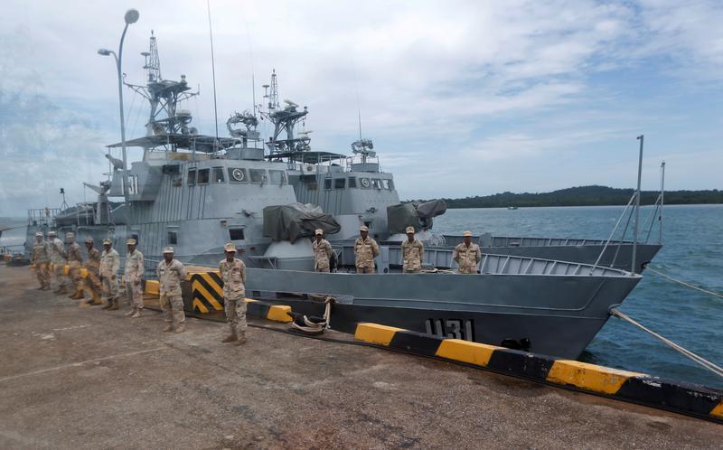Binh sĩ Campuchia tại căn cứ hải quân Ream ở Sihanoukville năm 2019. Ảnh: Reuters.
