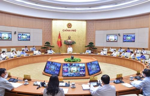 Chính phủ họp thường kỳ tháng 9/2021. Ảnh: VGP
