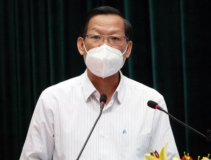 Chủ tịch UBND TP HCM Phan Văn Mãi. Ảnh: Trung Sơn