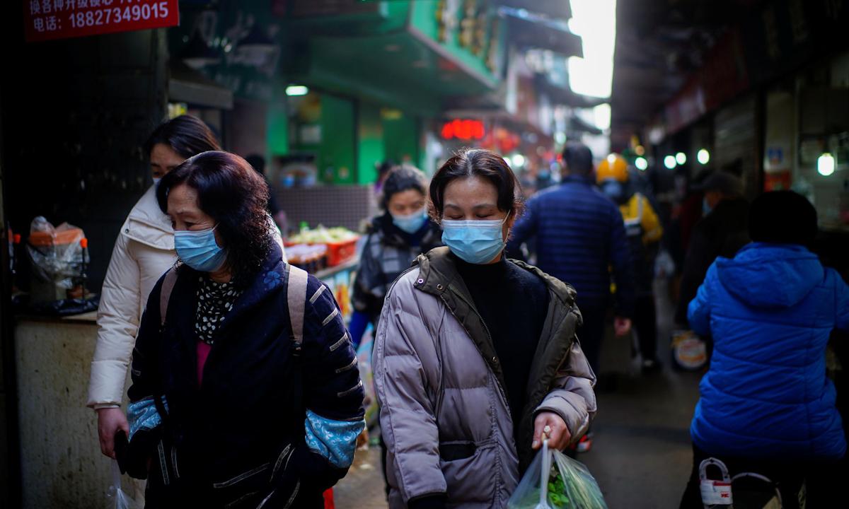 Một khu phố ở Vũ Hán, Trung Quốc vào tháng 2/2021. Ảnh: Reuters.