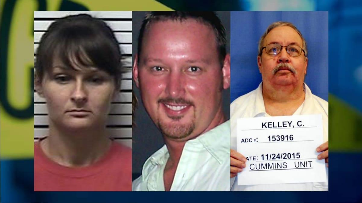 Từ trái qua: Michelle, chồng và bố ruột. Ảnh: Monstersandcritics