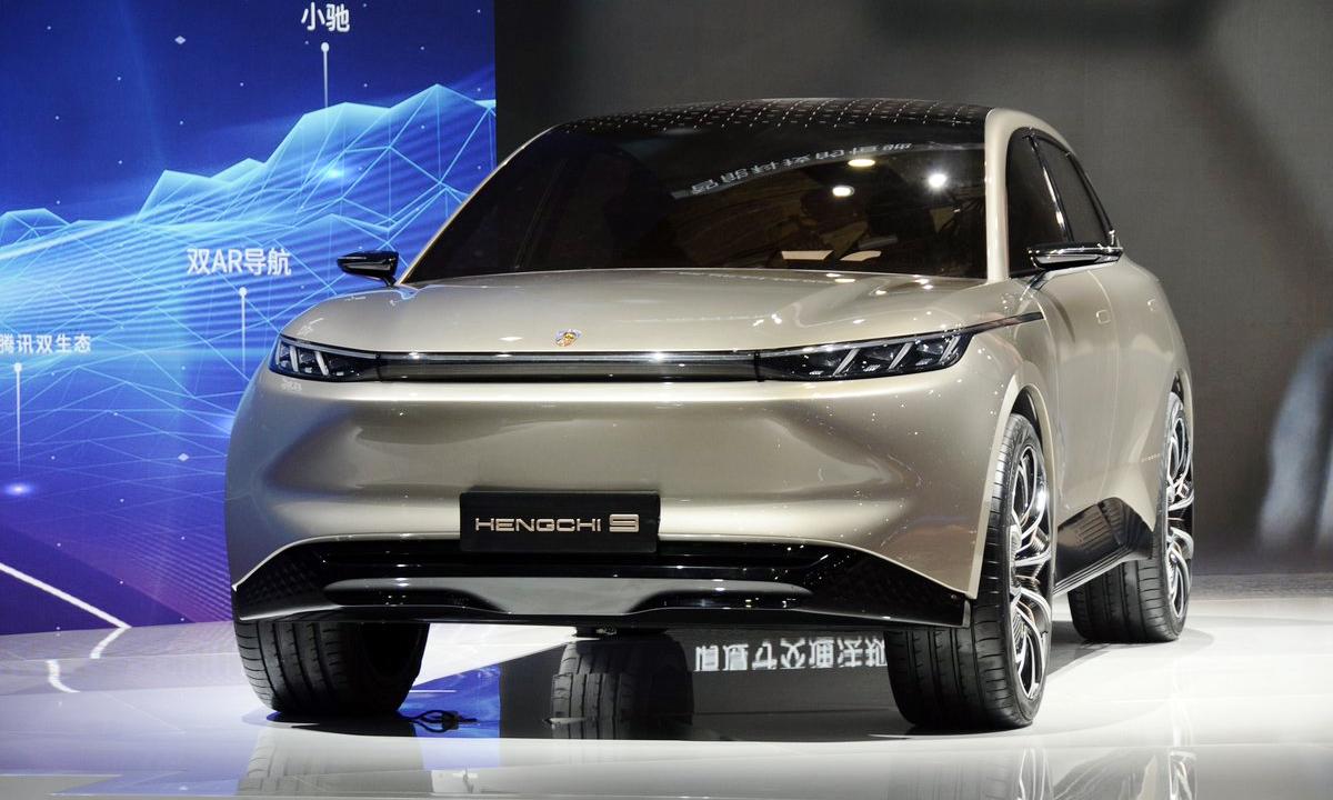 Hengchi 9 - SUV chạy điện của thương hiệu con thuộc Evergrande. Ảnh: Matthieu Lauraux